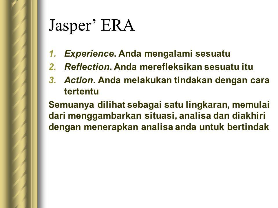 Jasper' ERA Experience. Anda mengalami sesuatu
