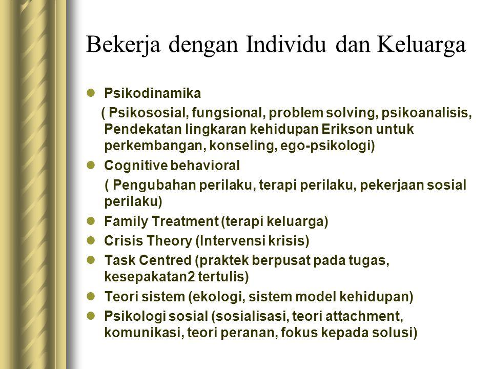 Bekerja dengan Individu dan Keluarga