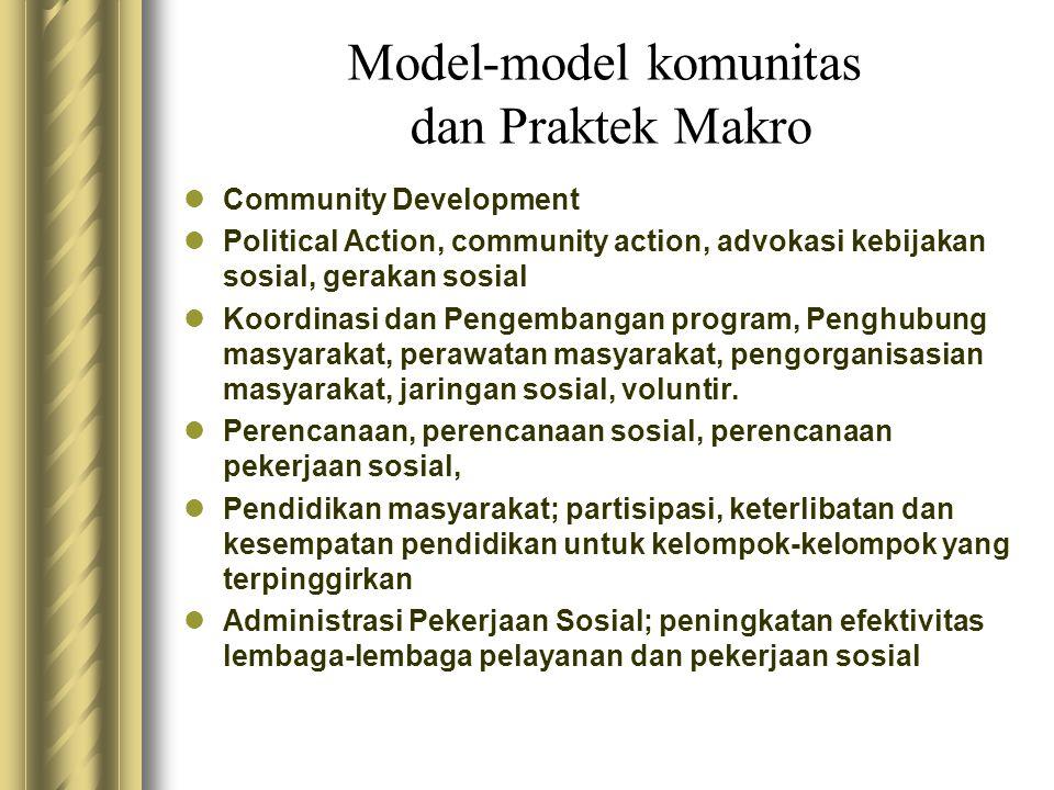 Model-model komunitas dan Praktek Makro