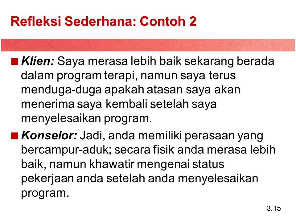 Refleksi Sederhana: Contoh 2