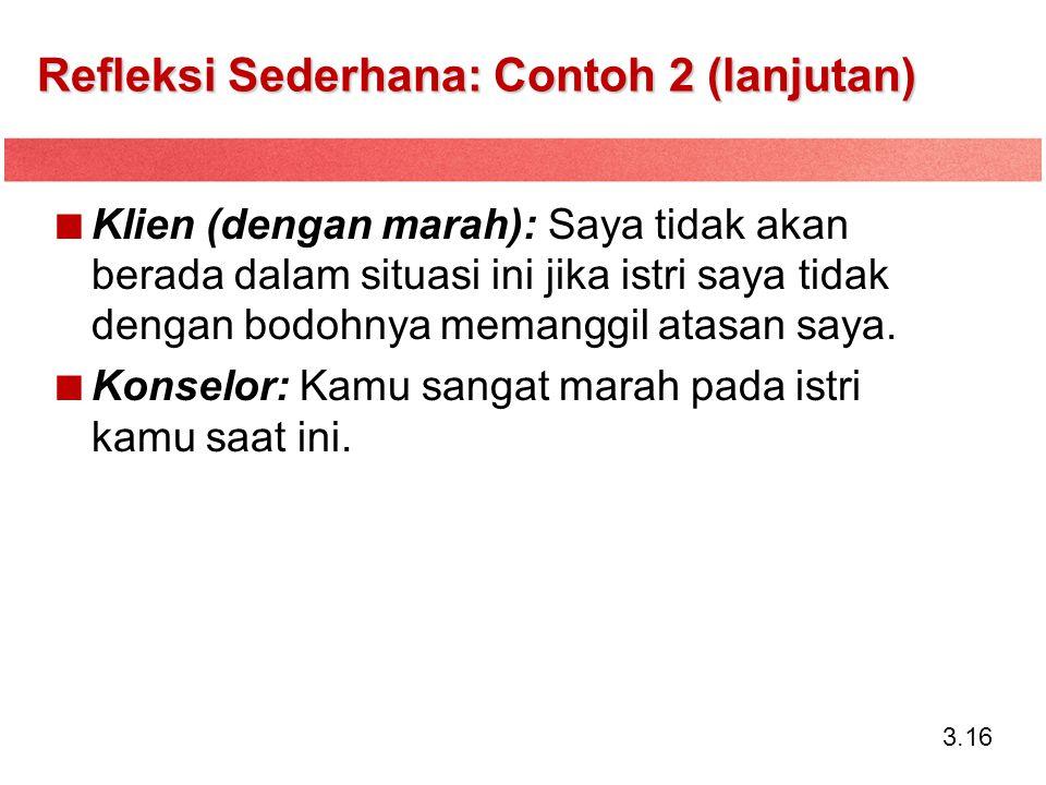 Refleksi Sederhana: Contoh 2 (lanjutan)