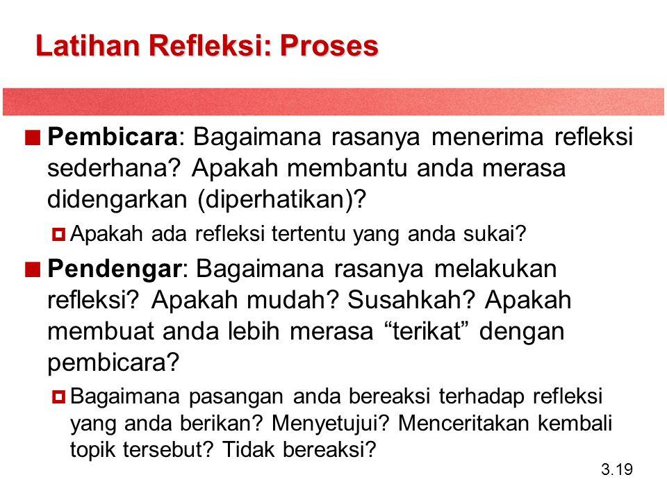 Latihan Refleksi: Proses
