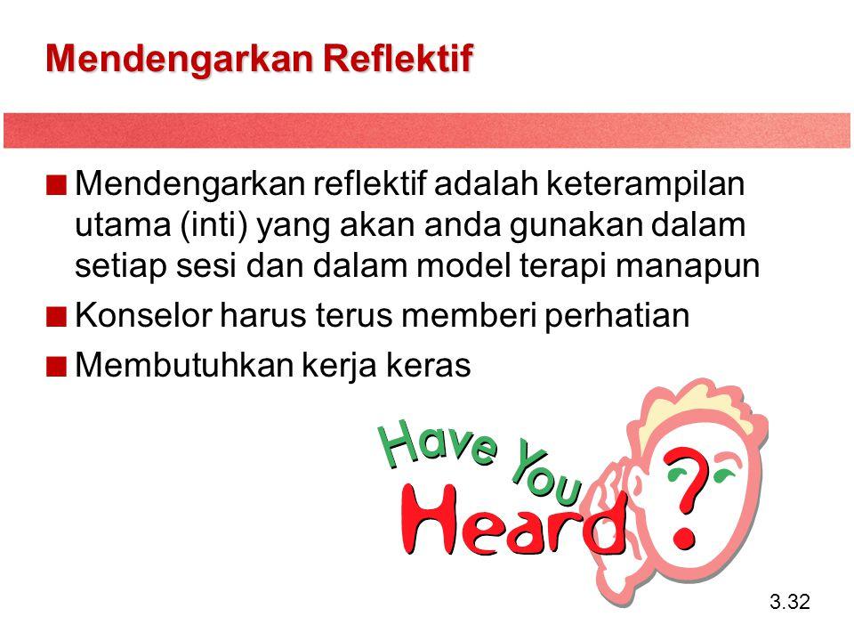 Mendengarkan Reflektif