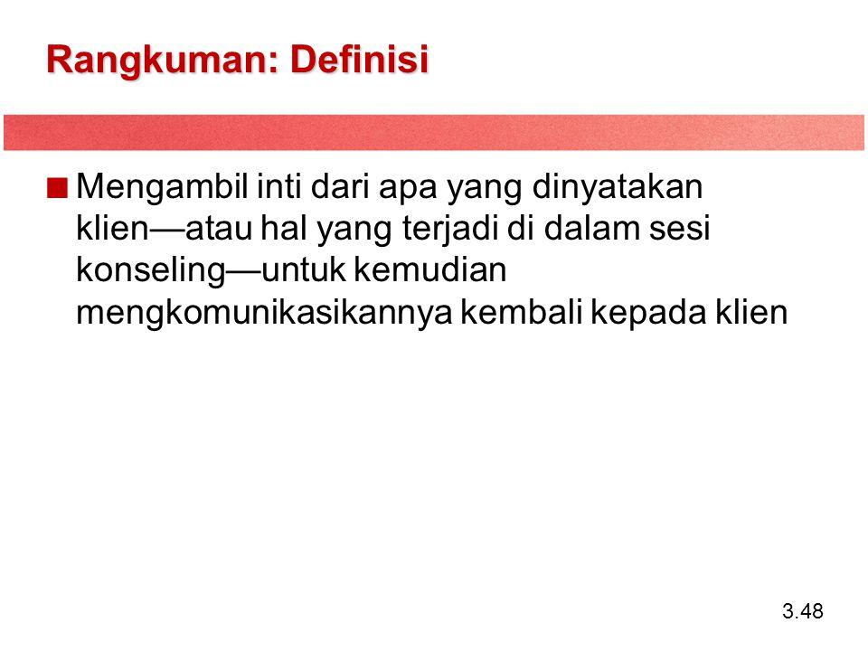Rangkuman: Definisi