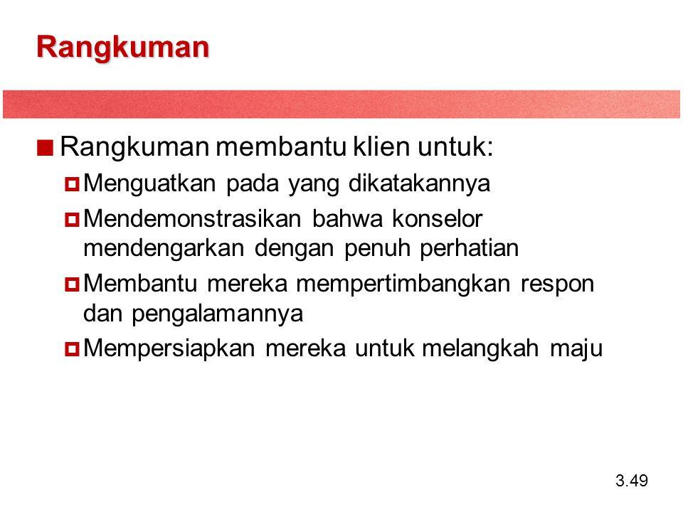Rangkuman Rangkuman membantu klien untuk: