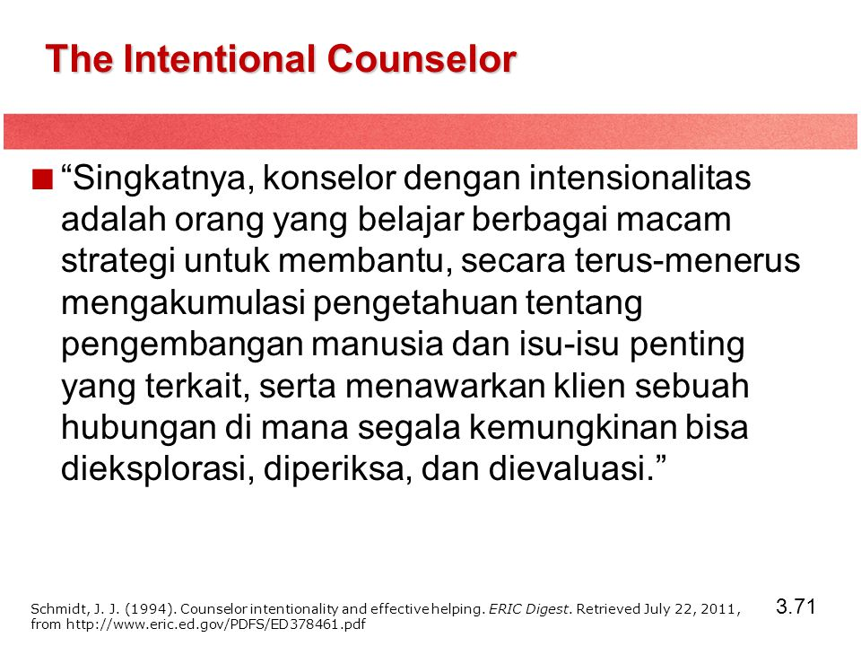 The Intentional Counselor