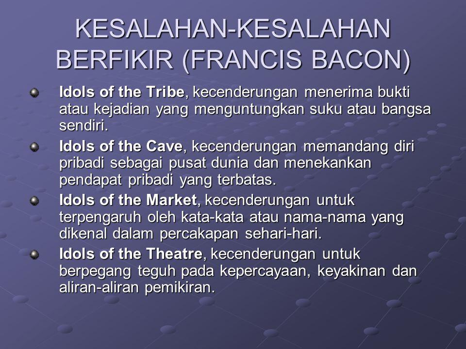 KESALAHAN-KESALAHAN BERFIKIR (FRANCIS BACON)