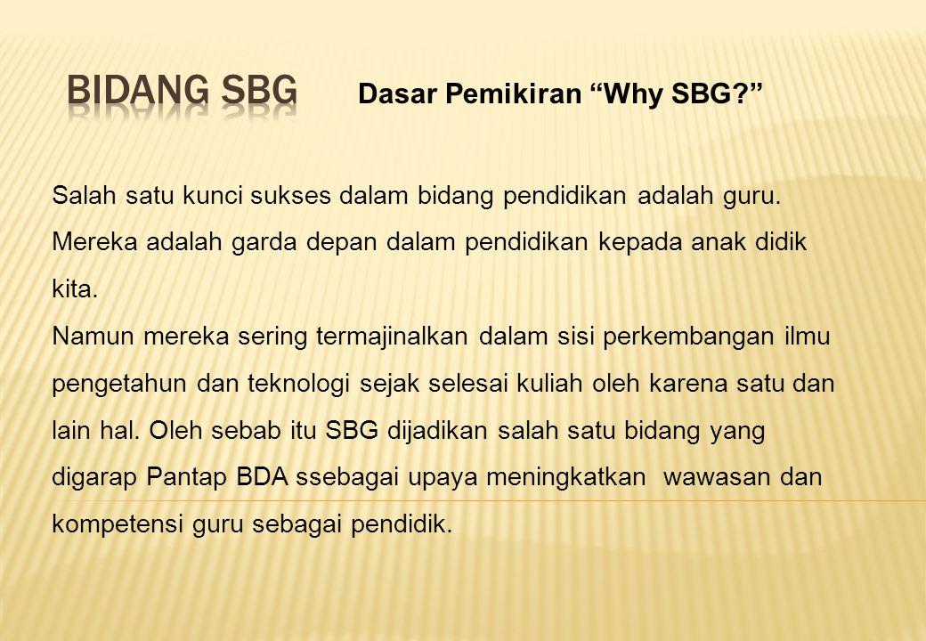 Bidang SBG Dasar Pemikiran Why SBG