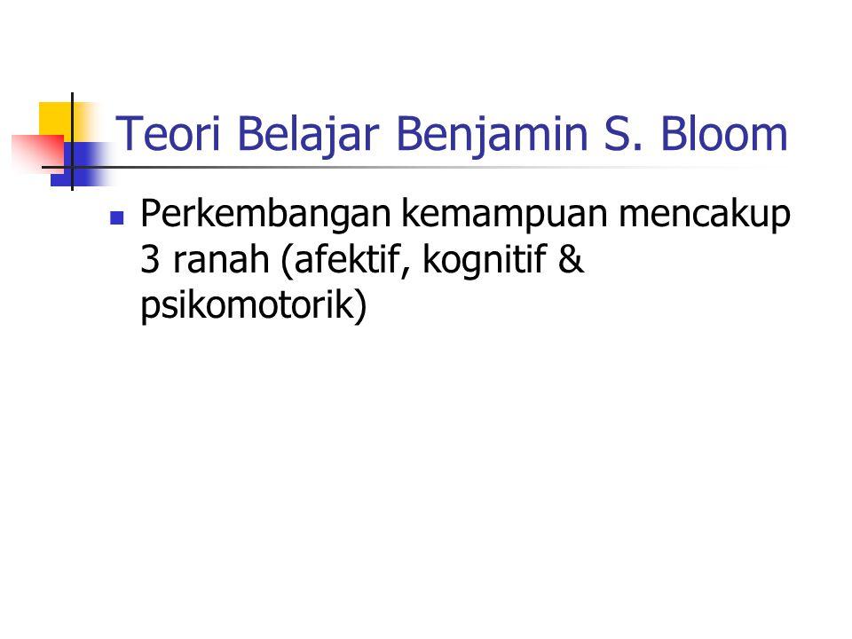 Teori Belajar Benjamin S. Bloom