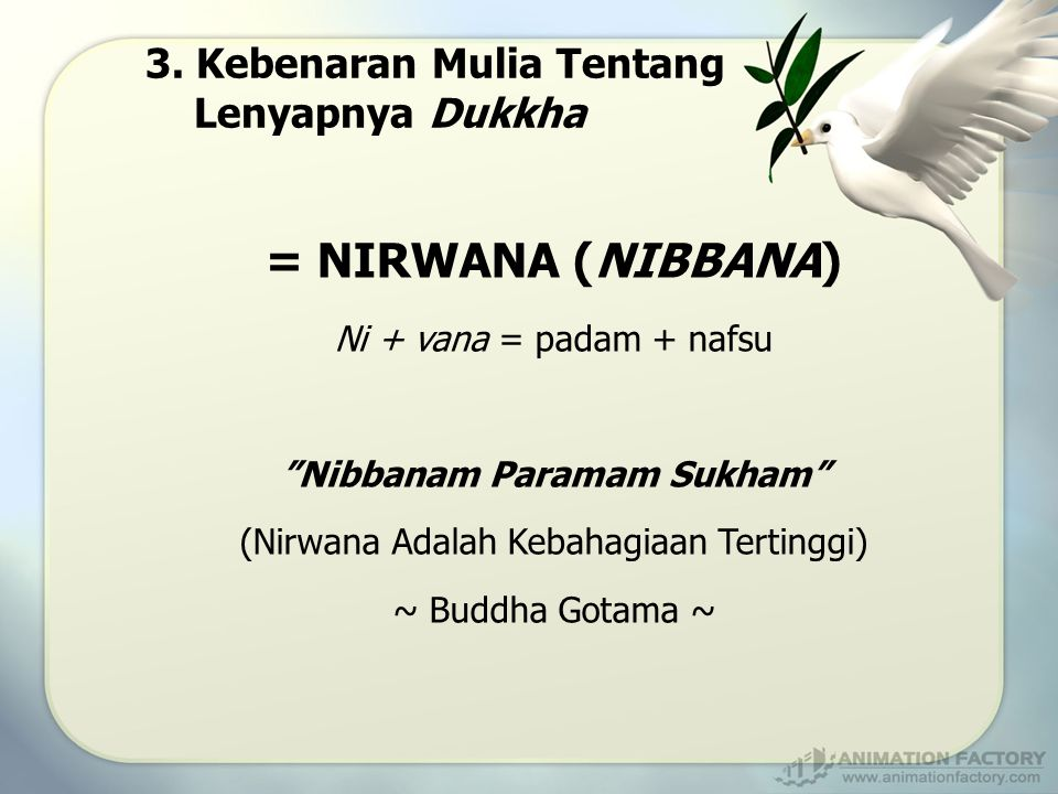 Nibbanam Paramam Sukham