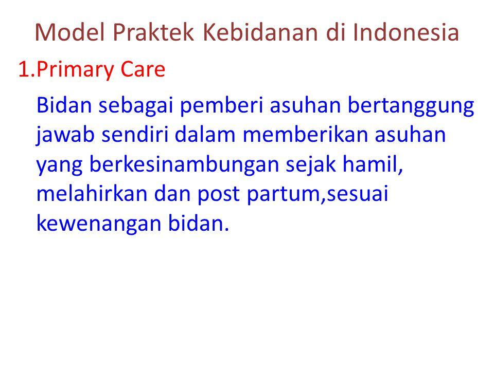 Model Praktek Kebidanan di Indonesia