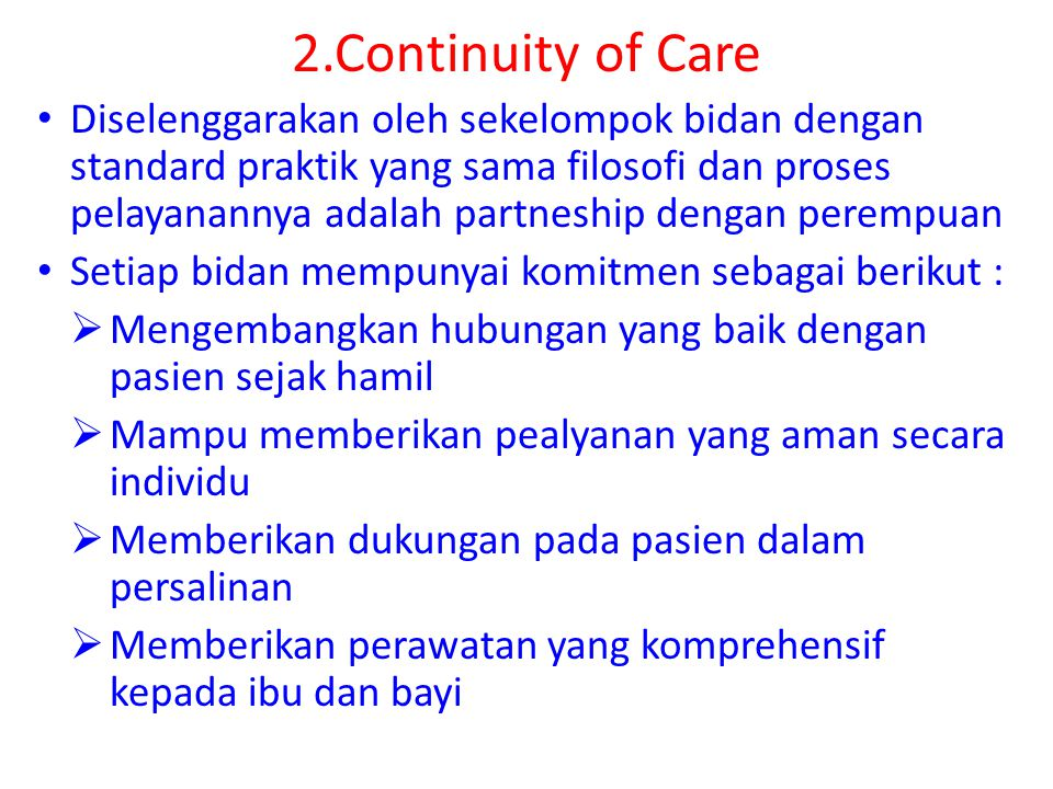 2.Continuity of Care