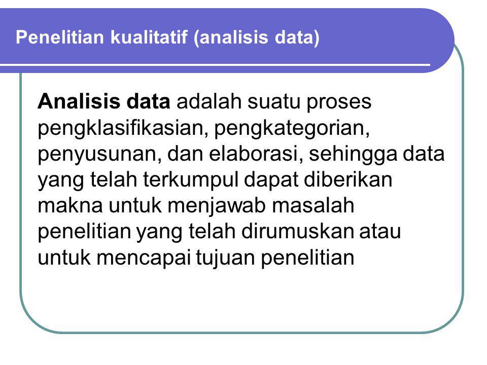 Penelitian kualitatif (analisis data)