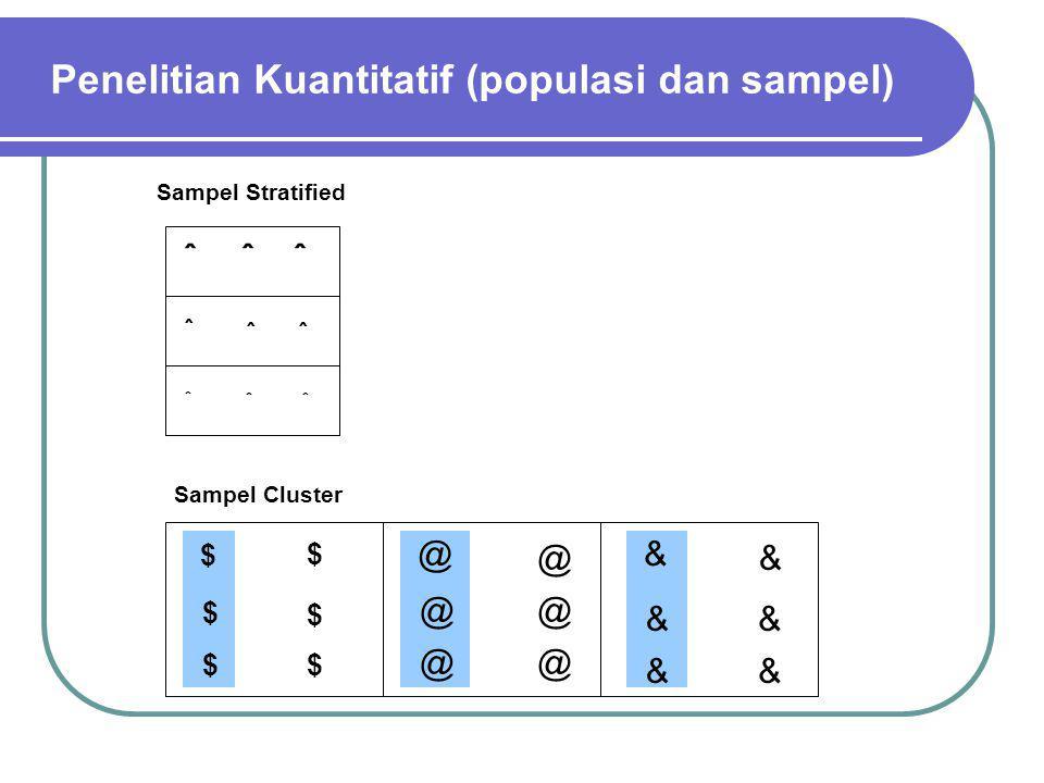 Penelitian Kuantitatif (populasi dan sampel)