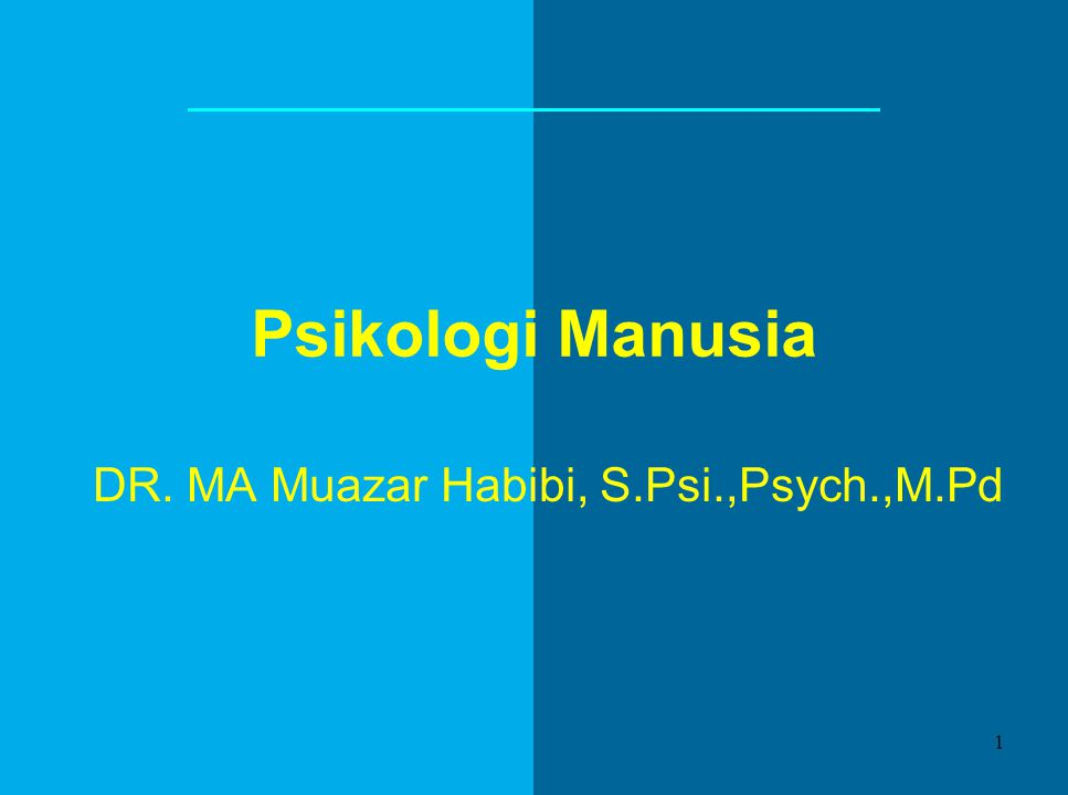 DR. MA Muazar Habibi, S.Psi.,Psych.,M.Pd