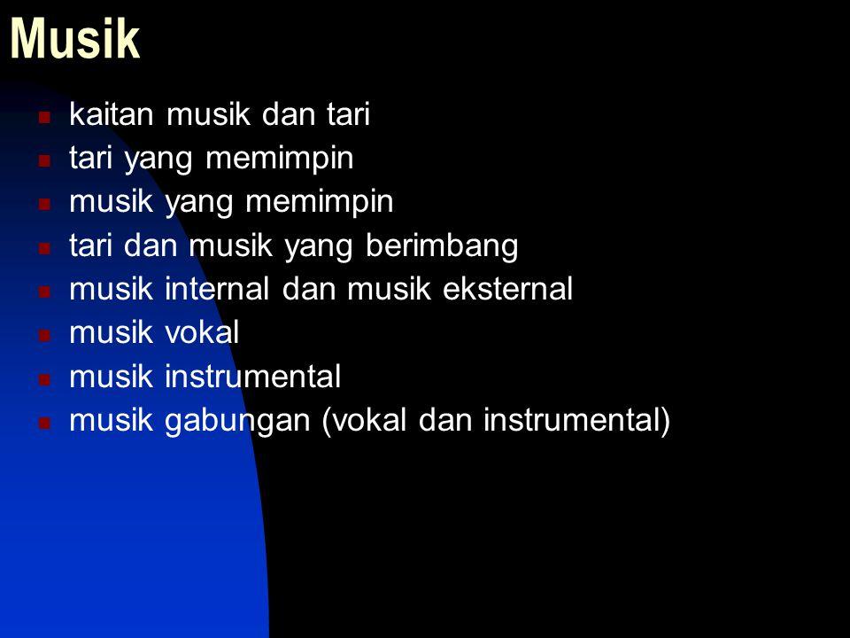 Musik kaitan musik dan tari tari yang memimpin musik yang memimpin