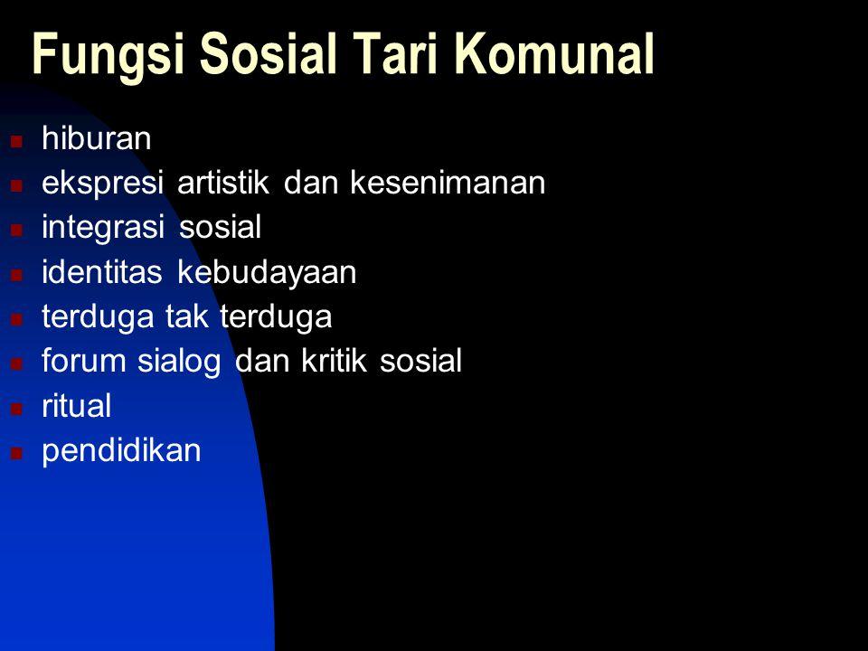 Fungsi Sosial Tari Komunal