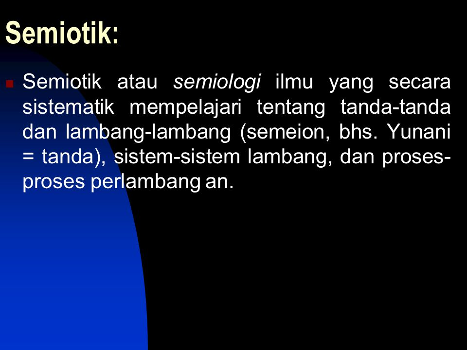 Semiotik: