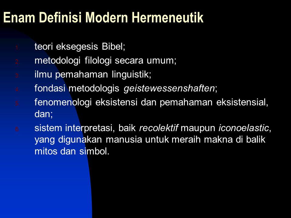 Enam Definisi Modern Hermeneutik