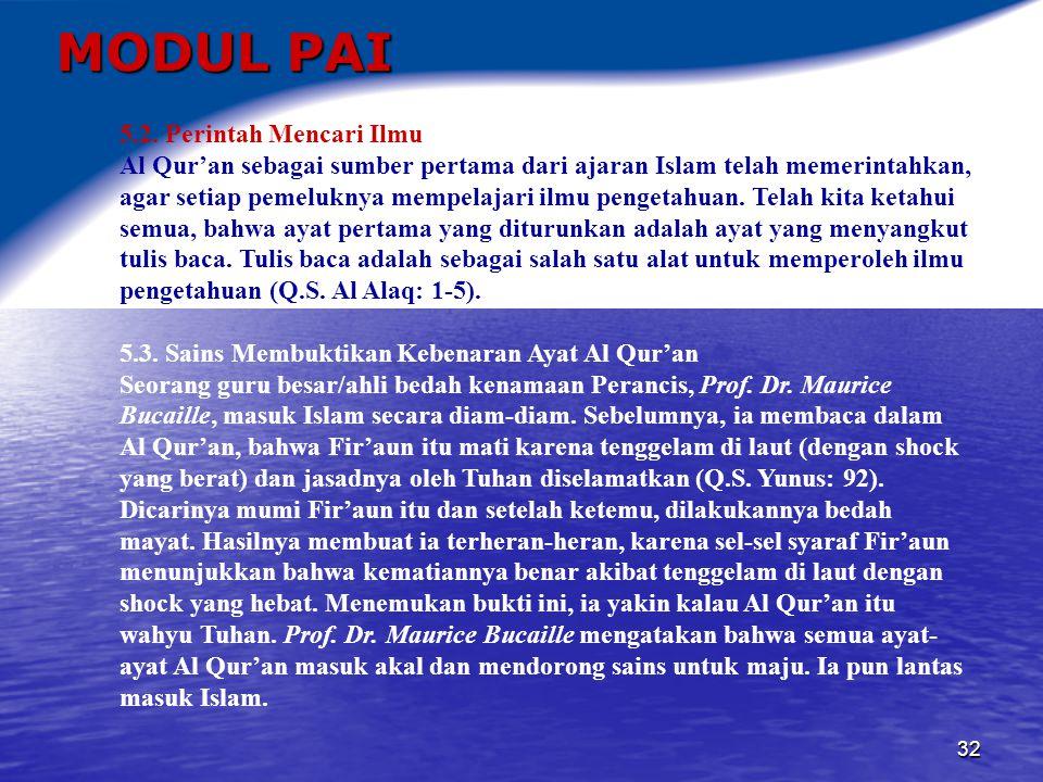 MODUL PAI 5.2. Perintah Mencari Ilmu