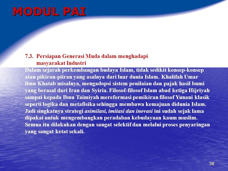 MODUL PAI 7.3. Persiapan Generasi Muda dalam menghadapi