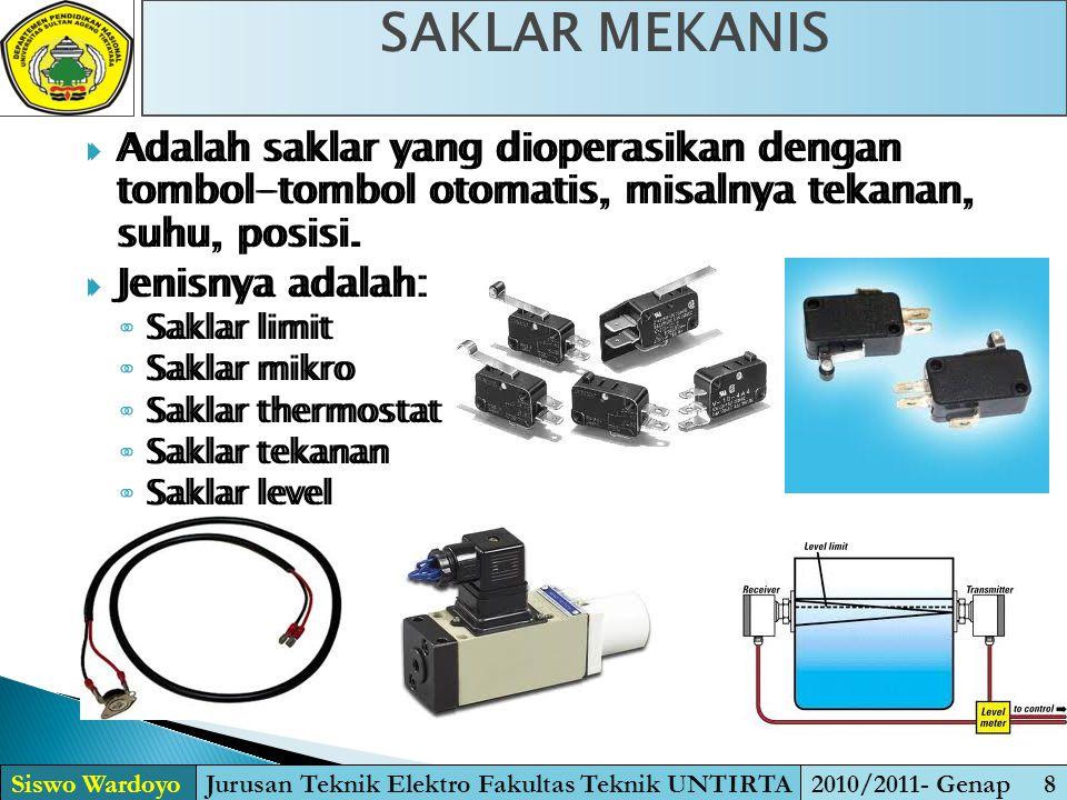 Jurusan Teknik Elektro Fakultas Teknik UNTIRTA
