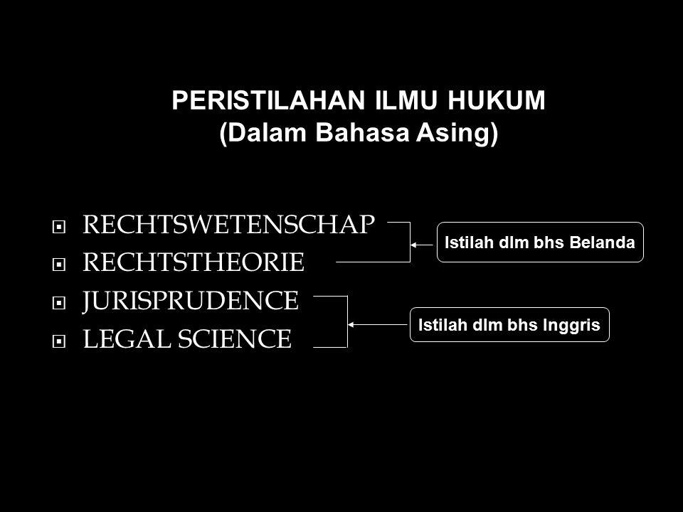 PERISTILAHAN ILMU HUKUM (Dalam Bahasa Asing)