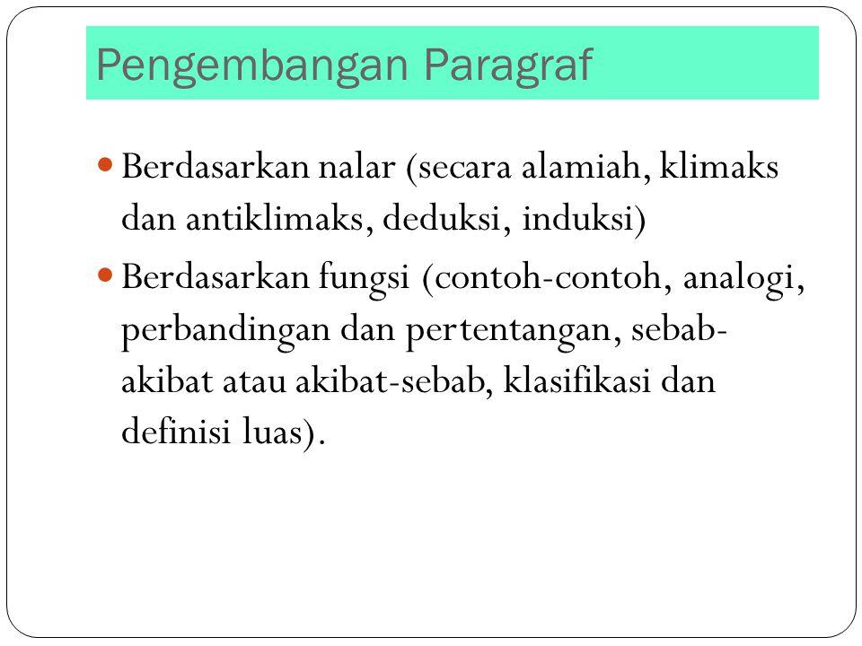 Pengembangan Paragraf