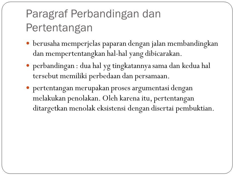 Paragraf Perbandingan dan Pertentangan