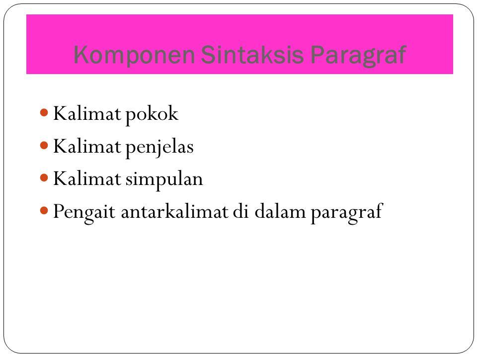 Komponen Sintaksis Paragraf