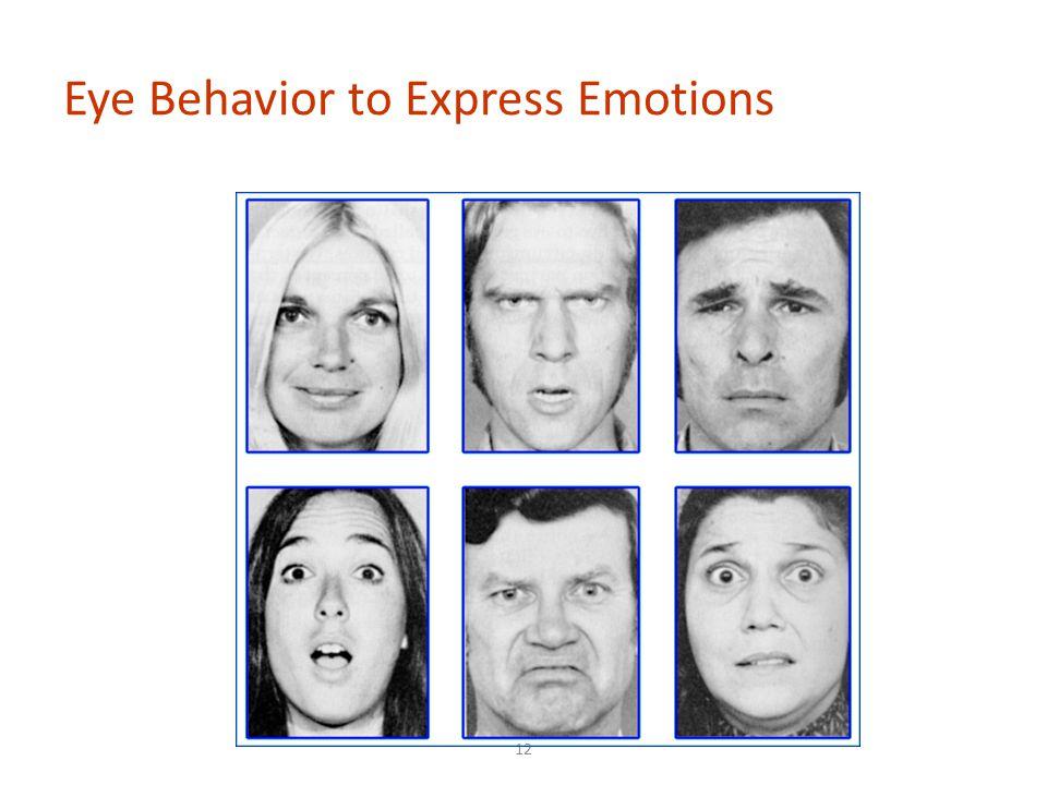 Eye Behavior to Express Emotions