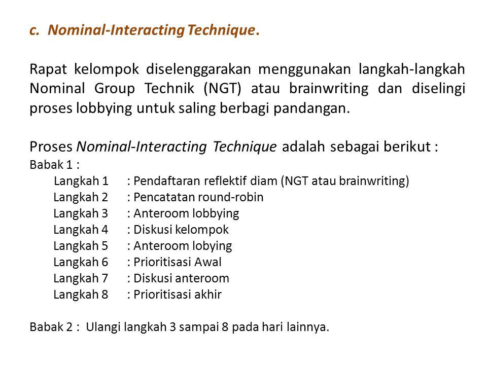 c. Nominal-Interacting Technique.