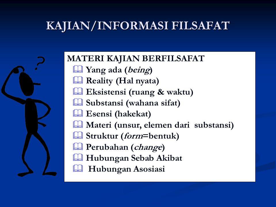KAJIAN/INFORMASI FILSAFAT