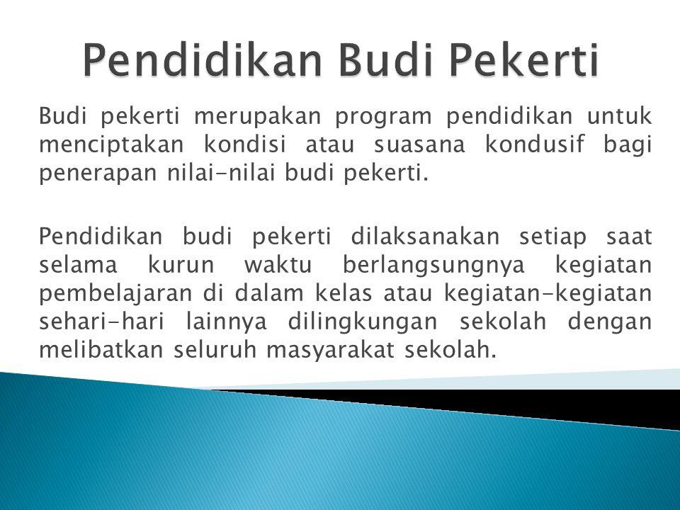 Pendidikan Budi Pekerti
