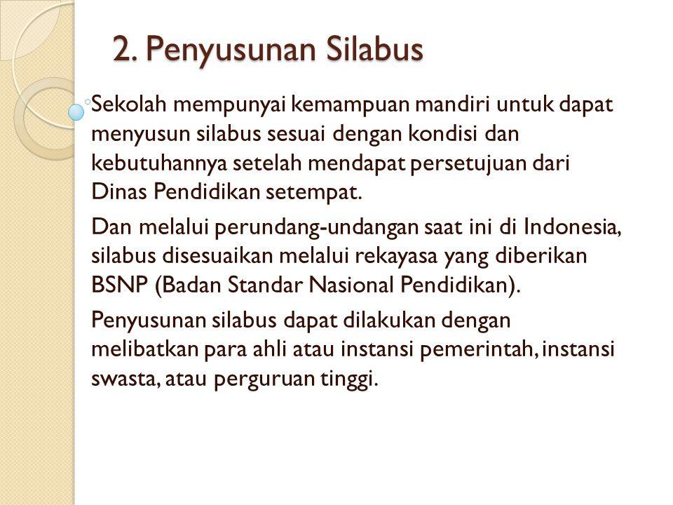 2. Penyusunan Silabus