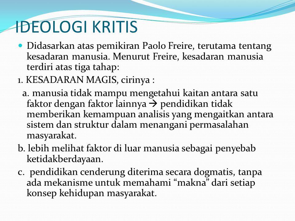 IDEOLOGI KRITIS