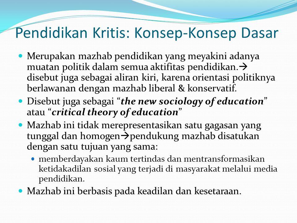 Pendidikan Kritis: Konsep-Konsep Dasar