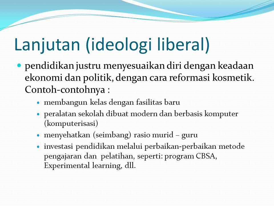 Lanjutan (ideologi liberal)