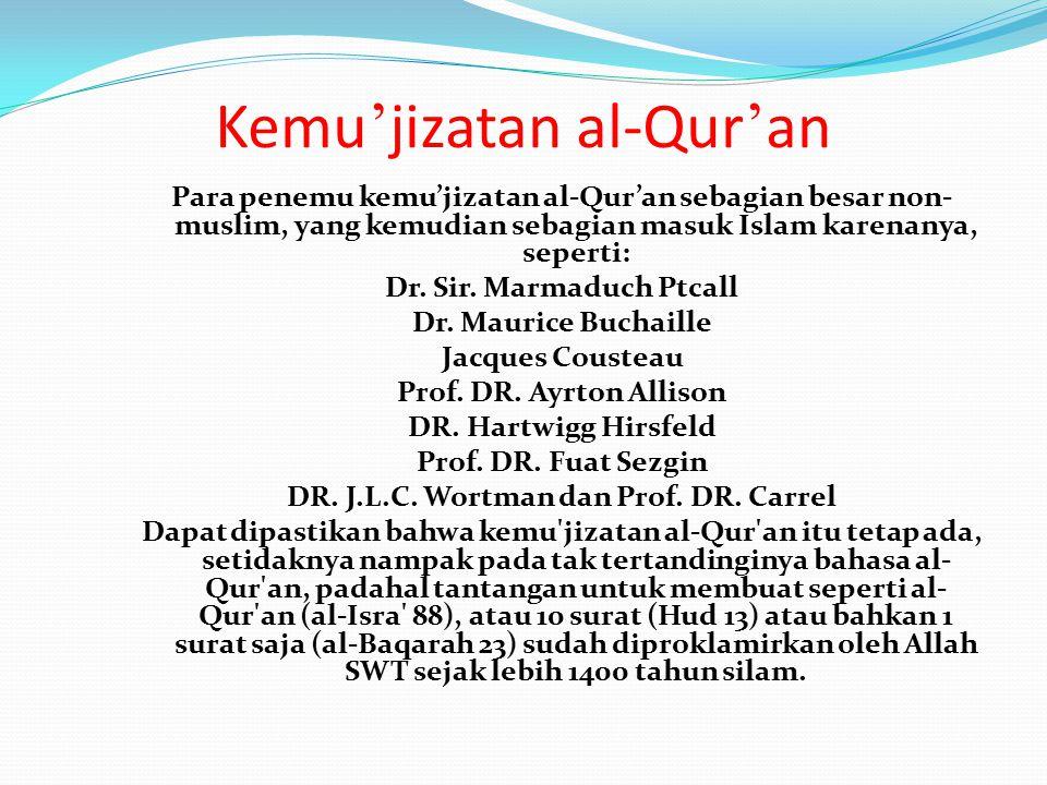 Kemu'jizatan al-Qur'an