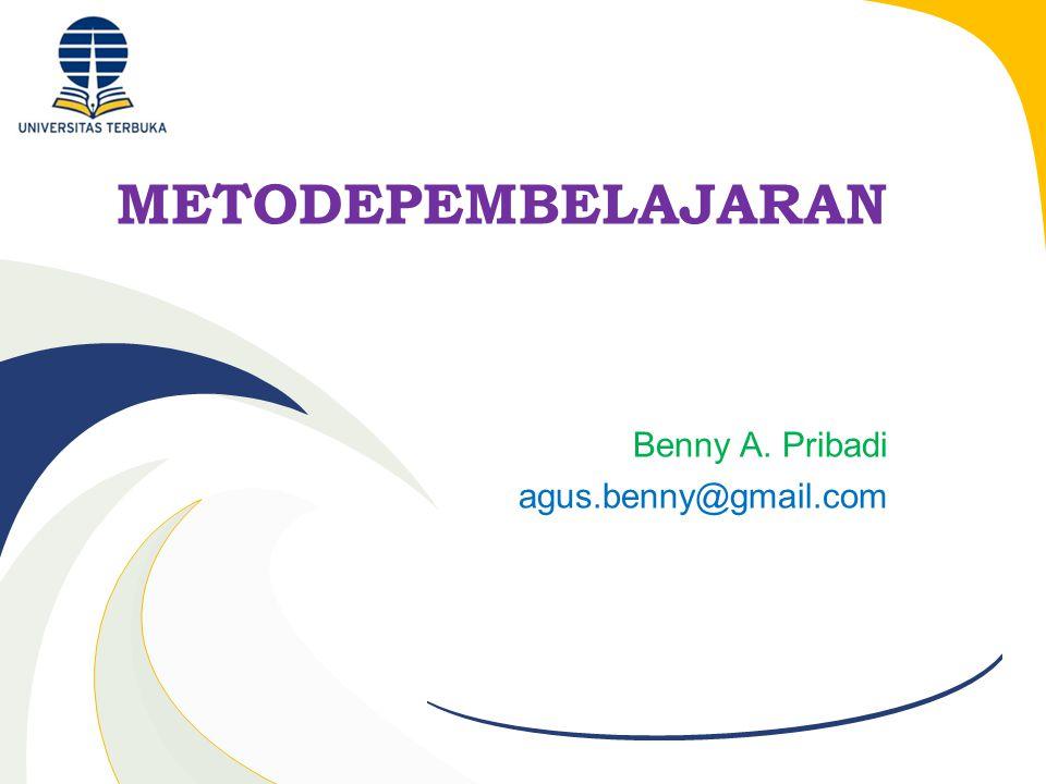 Benny A. Pribadi agus.benny@gmail.com