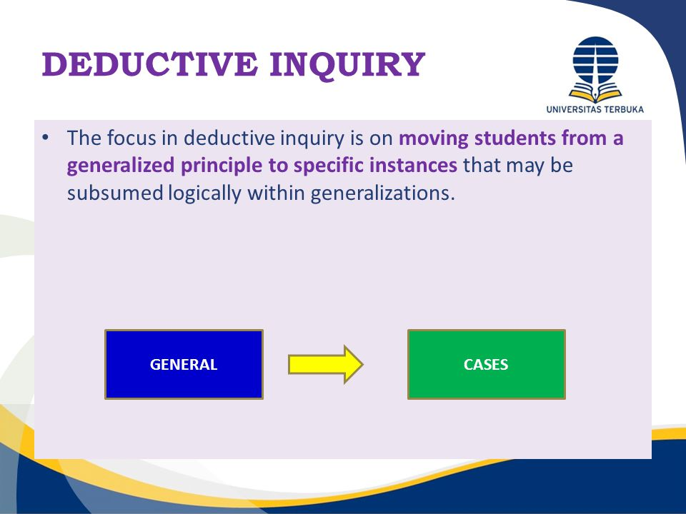 DEDUCTIVE INQUIRY