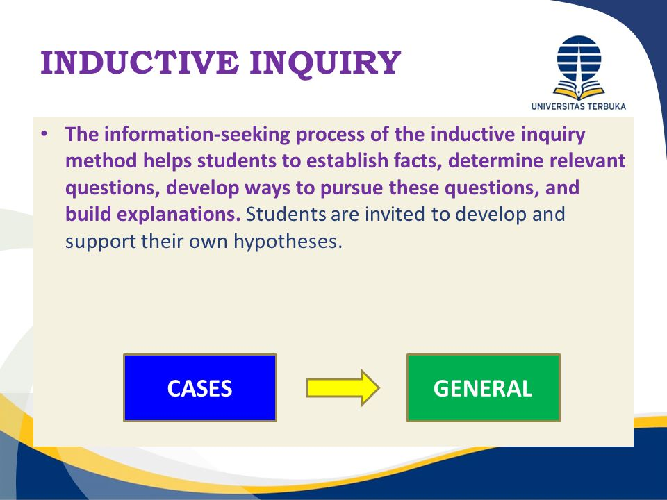 INDUCTIVE INQUIRY CASES GENERAL