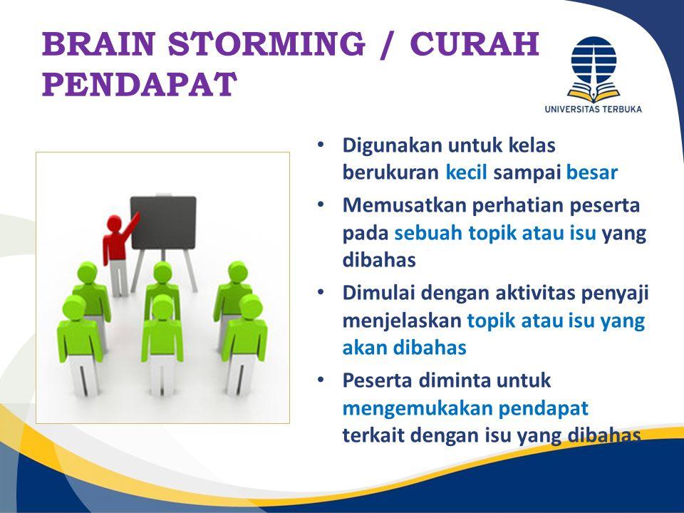 BRAIN STORMING / CURAH PENDAPAT