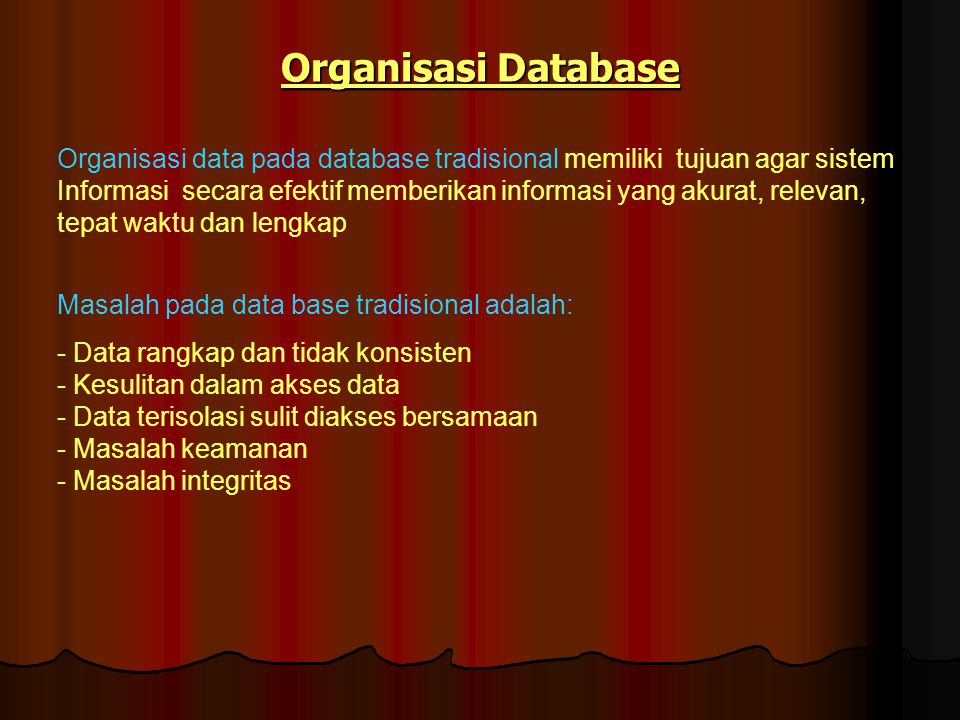 Organisasi Database