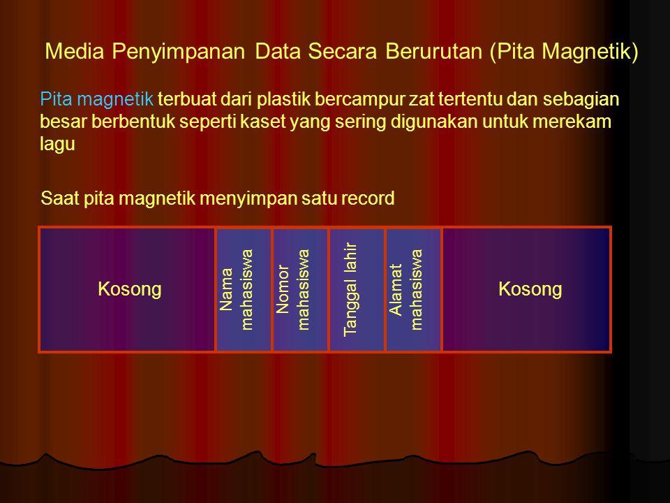 Media Penyimpanan Data Secara Berurutan (Pita Magnetik)