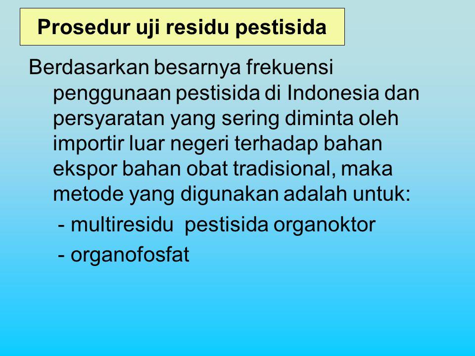 Prosedur uji residu pestisida