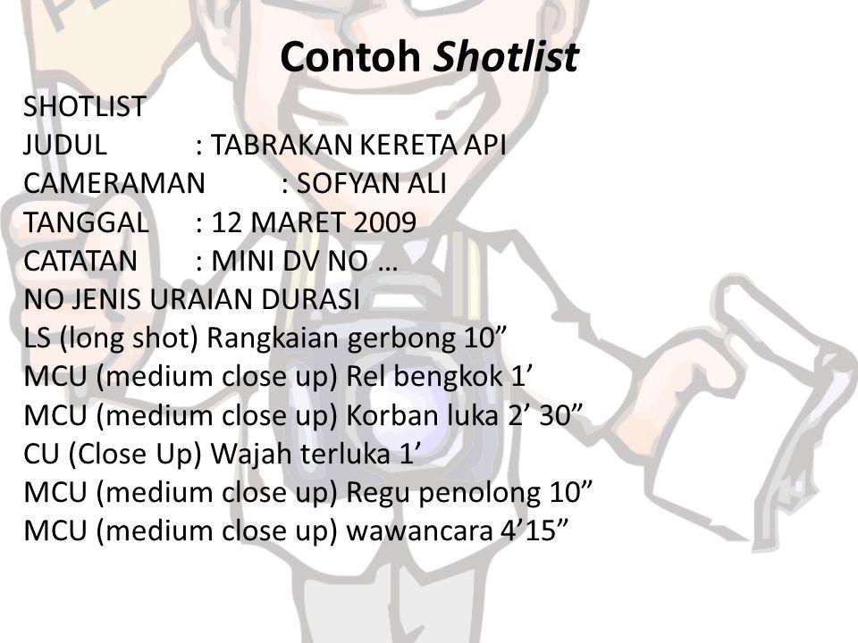 Contoh Shotlist