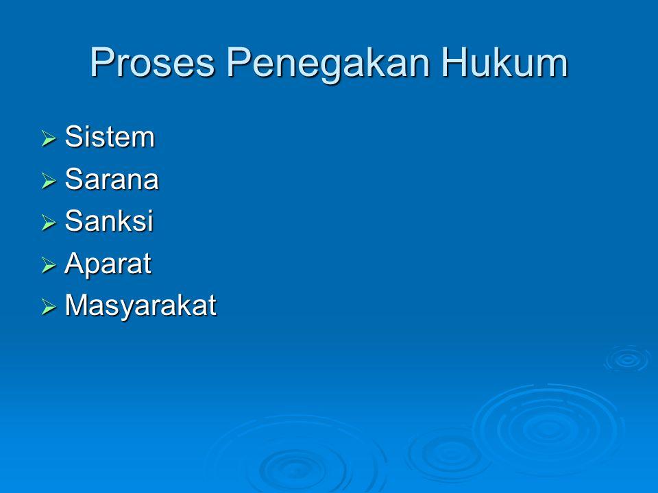 Proses Penegakan Hukum