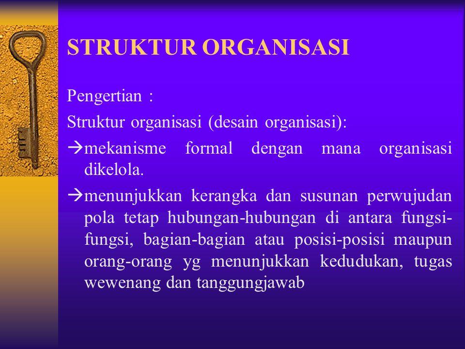 STRUKTUR ORGANISASI Pengertian :