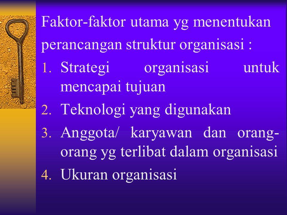 Faktor-faktor utama yg menentukan